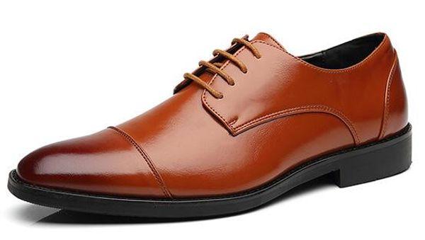 Zapatos de fiesta de boda Zapatos de cuero casuales de negocios de alta calidad Hombres de oficina Zapatos de oxfords transpirables de lujo formales Tamaño grande