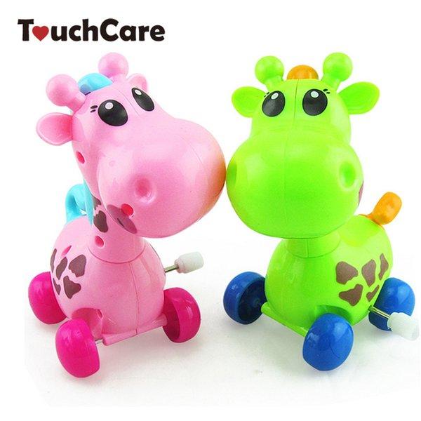 Clássico Wind Up Toys animais bonitos dos desenhos animados Girafa Clockwork Wind Up Baby Toys Correndo Chefe de rotação traseira clássico do recém-nascido Crianças Toy