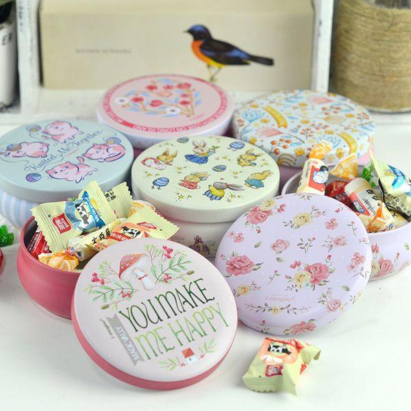 Portable Round Tea Candy Storage Case Tin Box Jewelry Lipstick Makeup Container Sugar Coffee Coin Organizer