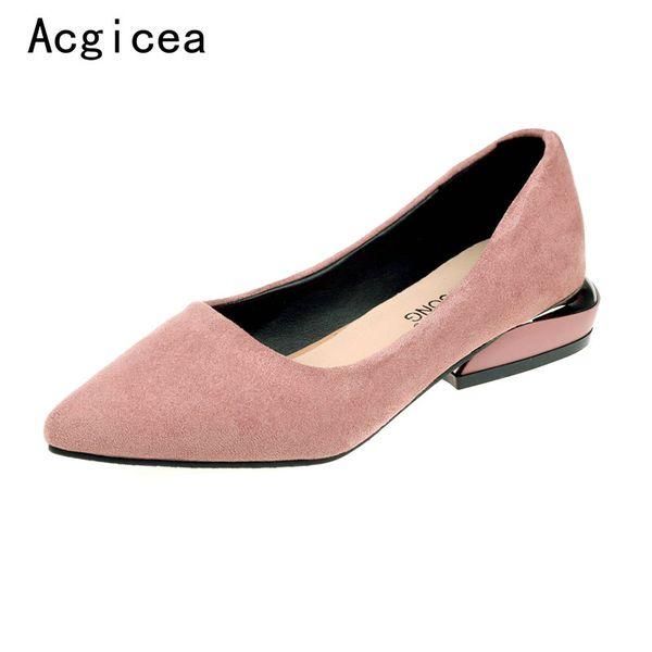 Designer Dress Shoes Szie 33-40 2019 New Women's Vintage Pumps Summer Low Heels Shallow Woman High Quality Girls Casual Shopping Footwear