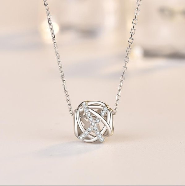 Small red book with the same paragraph niche s925 silver necklace Japanese luxury ins net red temperament diamonds Galaxy string necklace