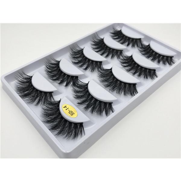 15 styles 3d simulation false eyelash natural thick comfortable slender 5 pairs of pure manual false eyelash 50 sets DHL