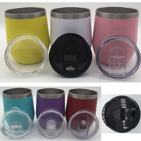 Tapas de vaso de acero inoxidable de 9 oz / 12 oz Tapa de sellado a prueba de agua Taza de prueba a prueba de reemplazo Taza Tapa de la taza Tapas de alta calidad