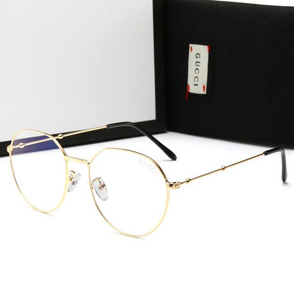 Gafas de lujo de los hombres Gafas de sol anti-azules Gafas ligeras con un marco completo de diseñador para hombres Mujeres Marca caliente