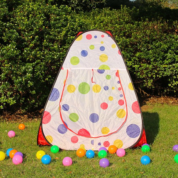 flower dot children game beach Triangle Tent Summer Single Layer Game Tent Quick Automatic Opening tents for kids MMA2033