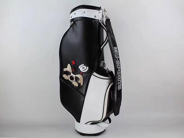 brand new mu sports golf standard ball package mu sports golf bag pu black color clubs bag ing