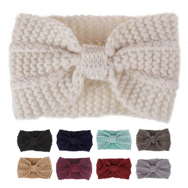 Fascia di modo di inverno delle donne dei capelli Accessori Copricapo Cuffia protettiva Bohemian Cinturino Capelli lavorato a maglia la cinghia