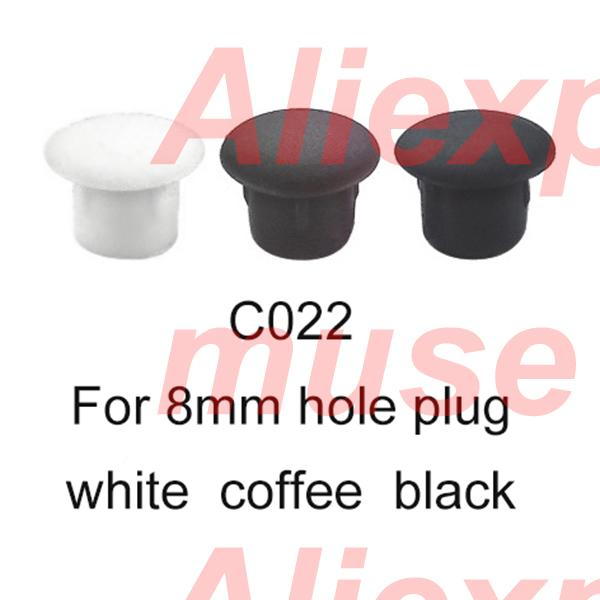 8mm Coffee White Black Furniture Drilling Hole Plug Cupboard Screw Plastic Cover Cap Insert Dark Brown End Pannel Furniture