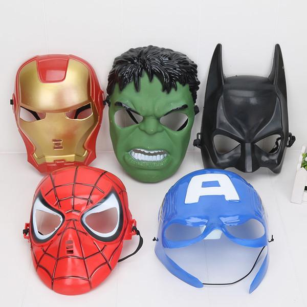 5 pz / set Marvel The Avengers Endgame Mask Superhero Kids Spiderman Iron Man Hulk America Capitano Forniture per feste Cosplay per bambini Y190604