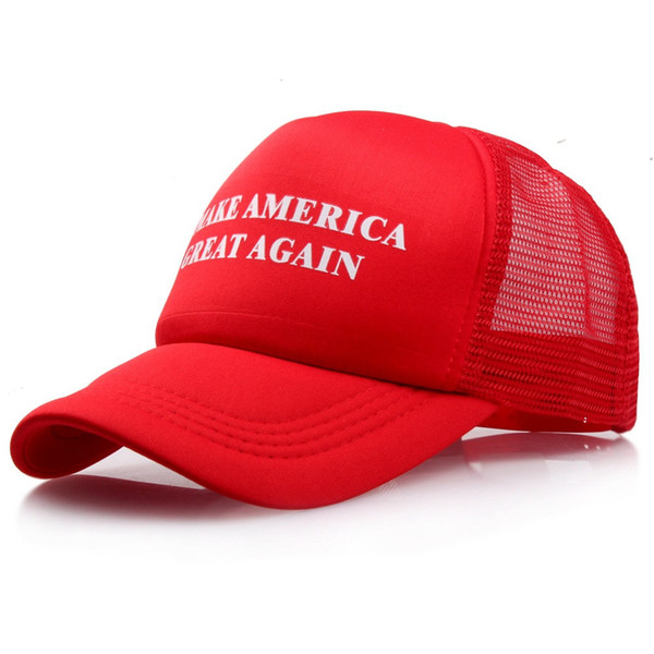 """Make america great again"" Letter Black Red White Outdoor gorros Unisex Mesh Hats Hip-Hop Adjustable Baseball Cap Women's"