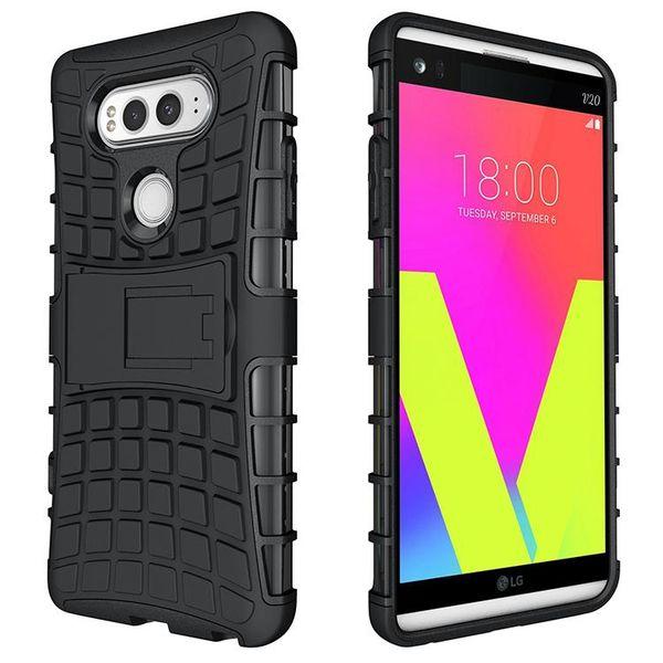 2in1 гибридный противоударный двухслойный чехол для подставки под iphone X 8 7 6 Sumsang J7 A9 8 LG K10 Moto NOKIA HTC Sony Huawei ASUS OPP