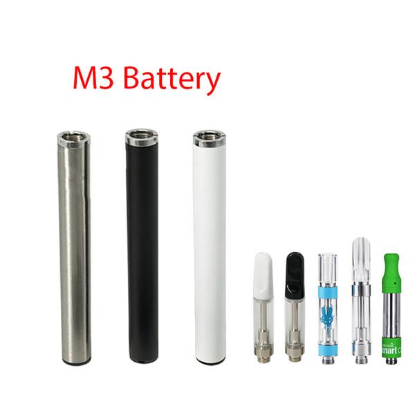 Batteria 350mAh M3 Batteria Ecig Penna automatica Buttonless per TH205 M6T 510 Serbatoio olio cartuccia Vape Pen