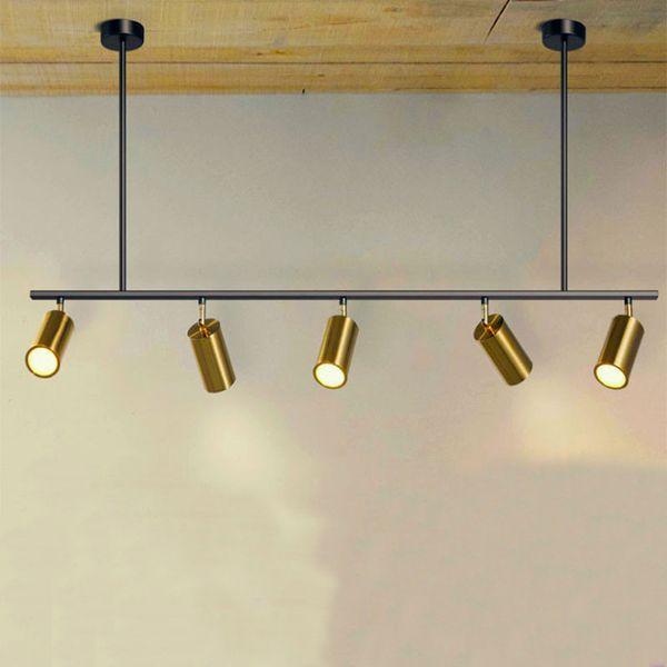 Rotation nordique led projecteurs 5/7 têtes LED lampes suspension pour showroom magasin de vêtements piste d'or corridor art villa G822