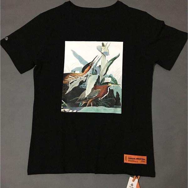 Heron Preston T-shirts 18 neue Art und Weise Mandschurenkranich Heron Preston Top Tees Männer Frauen Sommer Street Heron Preston T Shirt # 866y