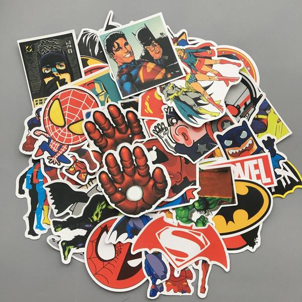Avengers Kahraman Karikatür Film Çıkartmaları Bardian Karikatür Graffiti Popüler Araba Sticker Su Geçirmez Anti Giyim Çevre Dostu 4 5qx I1