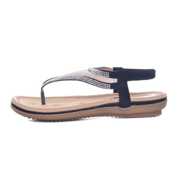 2019 Summer Crystal Flip Flops Mesh Flat Sandals Summer Beach Casual Shoes Platform Slip On Shoes Woman Size 35-41 XWZ3654