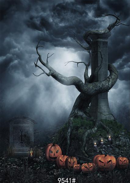 Vinyl Custom Photography Backdrops Prop digital printed Vertical Halloween day Photo Studio Background JLT-9541