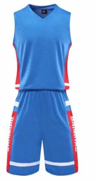 # 1866 New Custom Basketball Jersey bleu kit de haute qualité Hommes gratuit Envoi broderie Logos 100% top vente Cousu