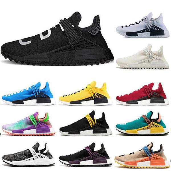 2019 New Human Race Pharrell Williams X Sports Running Shoes Nerd black cream Holi mens fashion luxury mens women designer sandals shoes