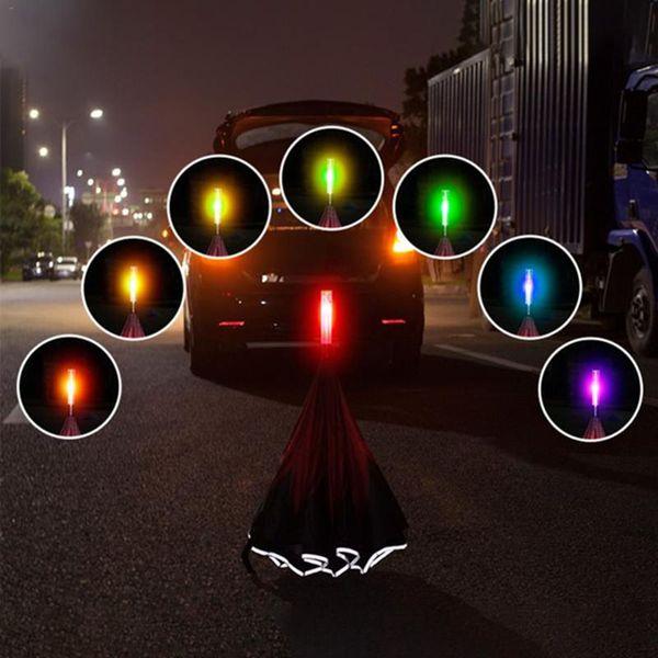 Colorido LED Umbrella À Prova D 'Água Luminosa Reversa Umbrella Dupla Camada LEVOU Segurança Aviso De Vara Para Night Handle Em Linha Reta SOS Umbrella