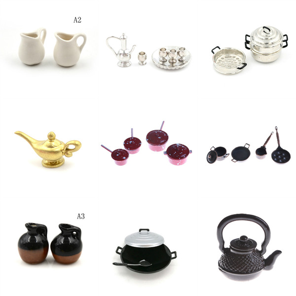 2019 1 12 Dollhouse Miniature Kitchen Utensils Cooking Ware Mini Pot Boiler Pan With Lid Coffee Cups Ceramic Pot Play Kitchen Toy From Friendhi