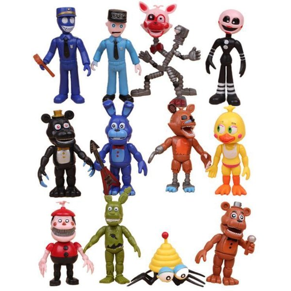 12 teile / satz Fünf Nächte Bei Freddy FNAF Bonnie Foxy Freddy Fazbear Bär Nacht Bei Freddy Toys Action Figure spielzeug