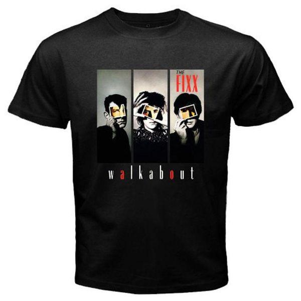 Novo O Fixx Walkabout Inglês Banda de Rock dos homens T-Shirt Preta Tamanho S para 3XL 2018 Camisas de Manga Curta de Algodão T Homem roupas