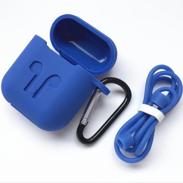 3MM Funda de silicona hebilla Soft TPU Ultra Thin Auriculares Cubierta protectora para Apple Airpods Air pods i9S Auricular inalámbrico Shell cadena GSZ5516
