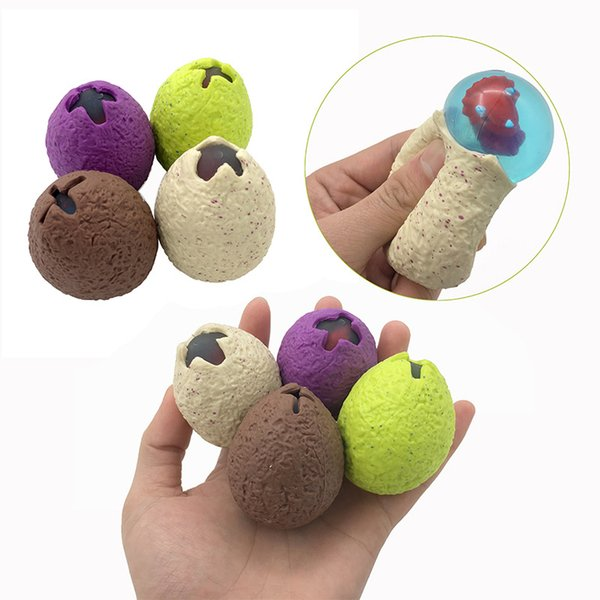 Anti Stress Dinosaur Egg Novelty Fun Splat Grape Venting Balls Squeeze Stresses Reliever Gags Practical Jokes Toy Funny Gadgets 4554