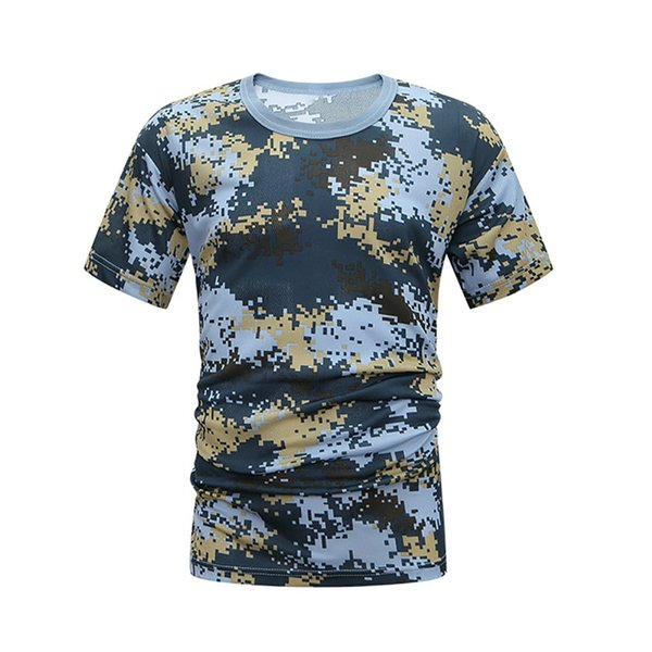 unisex Camouflage Short-sleeved T-shirt Loose Breathable Quick Dry Men and Women Compression Shirt Body Building 2019