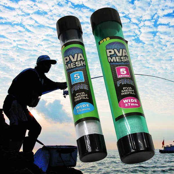 1pc new 5m pva mesh 25/37/44mm fishing net refill carp fishing stocking tackle bait bags accessories fish tool thumbnail
