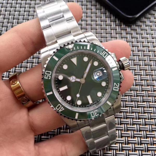 Luxury Watch 2813 Automatic Mechanical 116610 Sapphire Glass Ceramic Bezel Glidelock Men Mens Wristwatches Watches