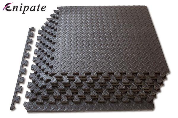 best selling Enipate 1 PC Coffee Interlocking EVA Soft Foam Exercise Floor Mats Rug Children Play Mats Gym Garage House Office Mat 30*30*1cm