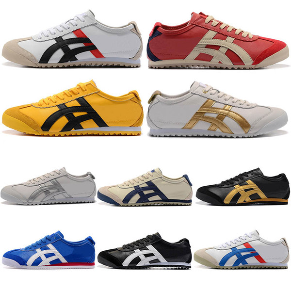 new product e9c08 cde79 2019 Jogging Leather Asic Onitsuka Tiger Mexico 66 Trainers Mens Sneakers  Black White Womens Tennis Shoes Gold OFF Red Yellow Sport Shoes From ...