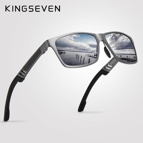 2018 New KINGSEVEN polarisierte Sonnenbrille-Mann-Marken Designer Male Vintage-Sonnenbrillen Brillen oculos gafas de sol masculino