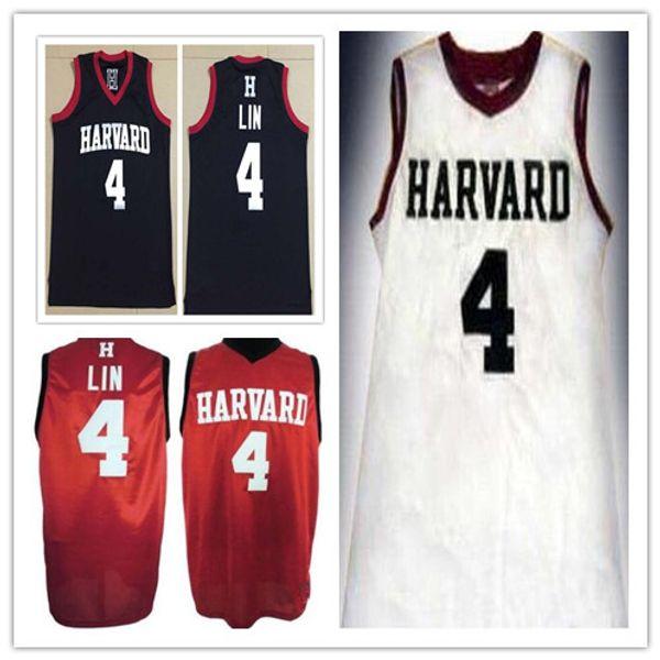# 4 JEREMY LIN Harvard University College Mann Frauen Jugend Basketball Trikots Größe S-5XL jeder Name Nummer Sport Trikot