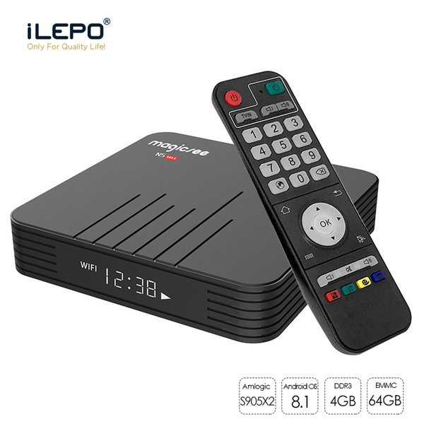 Smart TV MAGICSEE N5 Max Android 8.1 TV Box 4GB 64GB Amlogic S905X2 LPDDR4 2.4G+5G Dual Wifi BT 4.1 4G 32G Media Player PK X96 max X88