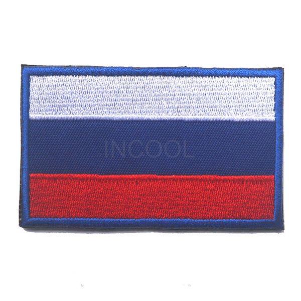 3D Russia Bandiera Ricamo / Patch di gomma Bandiere russe Morale Patch Emblemi tattici Badge Ricamati / Patch in PVC per abbigliamento