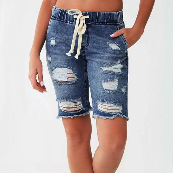 2019 Novos Jeans mulheres verão Short Jeans Denim Feminino Pockets Wash Denim Shorts Holiday Beach vaqueros mujer WD4