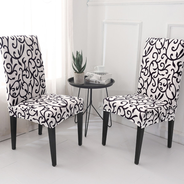 Tremendous Homing Stretch Chair Covers For Dining Room Elastic Kitchen Chair Protector Washable Case Slipcovers Seat Cover Home Decor Seat Cover Rentals Couch Caraccident5 Cool Chair Designs And Ideas Caraccident5Info