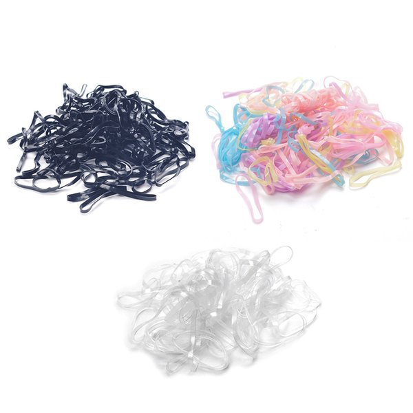 300pcs/pack Black Coloful Elastic Rubber Band Hair Band Tie Braids Hair Ring Ropes Bind Tool Hairstyle Holding