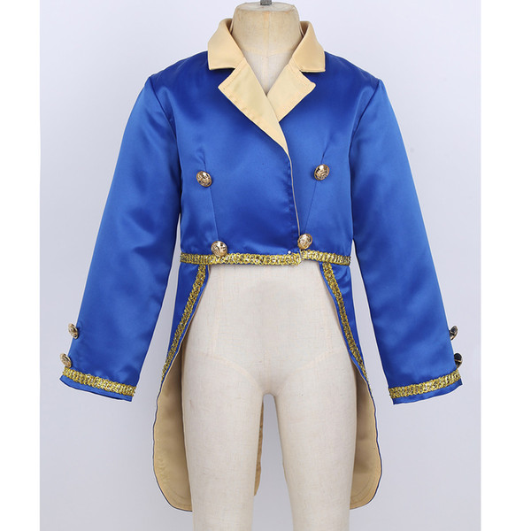 ChicTry Baby Boys Prince Costume Turn-Down Collar Tuxedo Jacket Kids Toddlers Halloween Cosplay Birthday Theme Party TailcoatMX190921