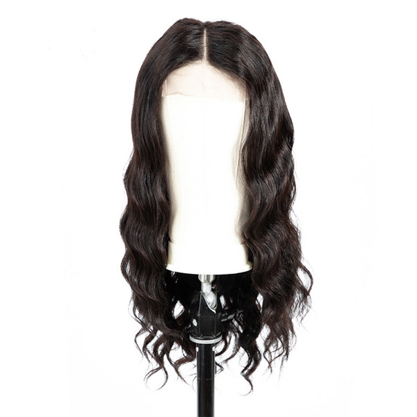 Human Hair Body Wave Brazilian Vrigin Wigs With Baby Hair Pre-Plucked Wave Curly Lace wigs For Black Women