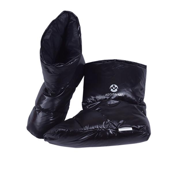 AEGISMAX Abajo Botines Accesorios para el saco de dormir Zapatillas Duck Down Ultraligero Camping Suave Unisex Interior Cálido viaje