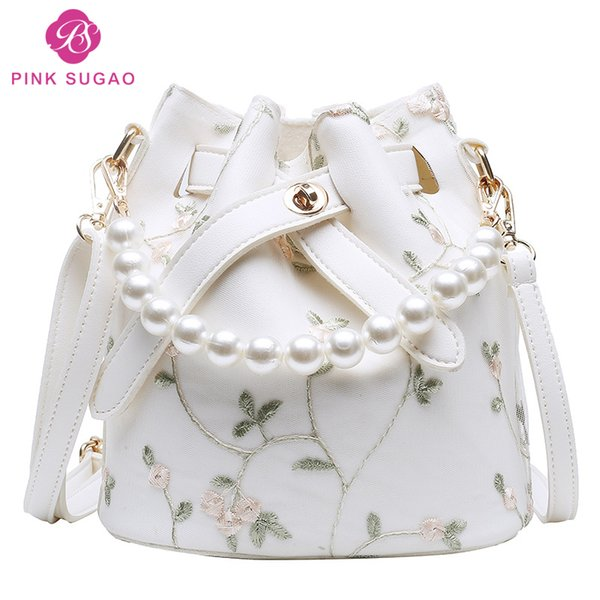 Pink Sugao designer handbags purses designer handbags for women PU leather crossbody bag shoulder bag three colors c1