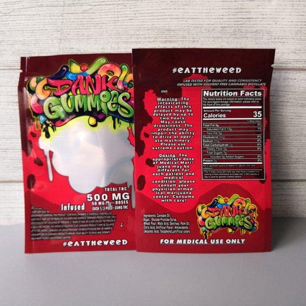 Gomas brancas bolsa de cor vermelha