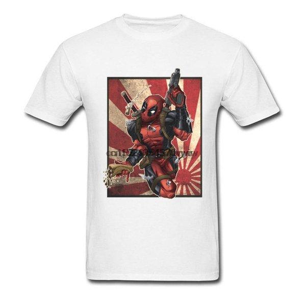 Сорвиголова Retro Flag Футболка для мужчин Spiderman Ironman Лиги Справедливости Окончательной футболки Cool мода