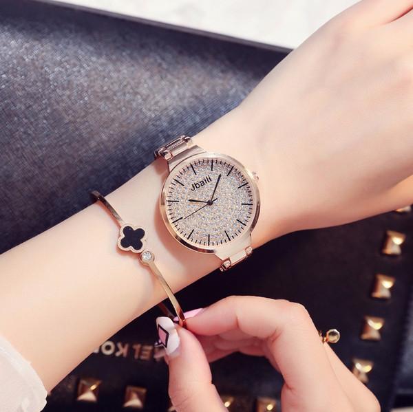 Luxury Women Quartz Bracelet Watches Reloj Mujer Relojes Stainless Steel Wrist Watch Fashion Beauty Clock Montre Femme Horloge