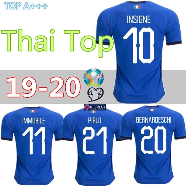 2019 camisetas de fútbol de Italia 2018 CHIELLINI INSIGNE camiseta de fútbol de Italia INSIGNE Camiseta de futbol BERNARDESCHI TOTTI INMOBILE maillot de foot
