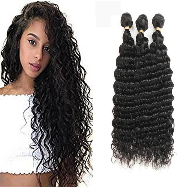 Brazilian Deep Wave 100 Unprocessed Virgin Brazilian Hair Bundles Deep Curly Human Hair Extensions Natural Color Cheap Hair Weave Cheap Remy Hair